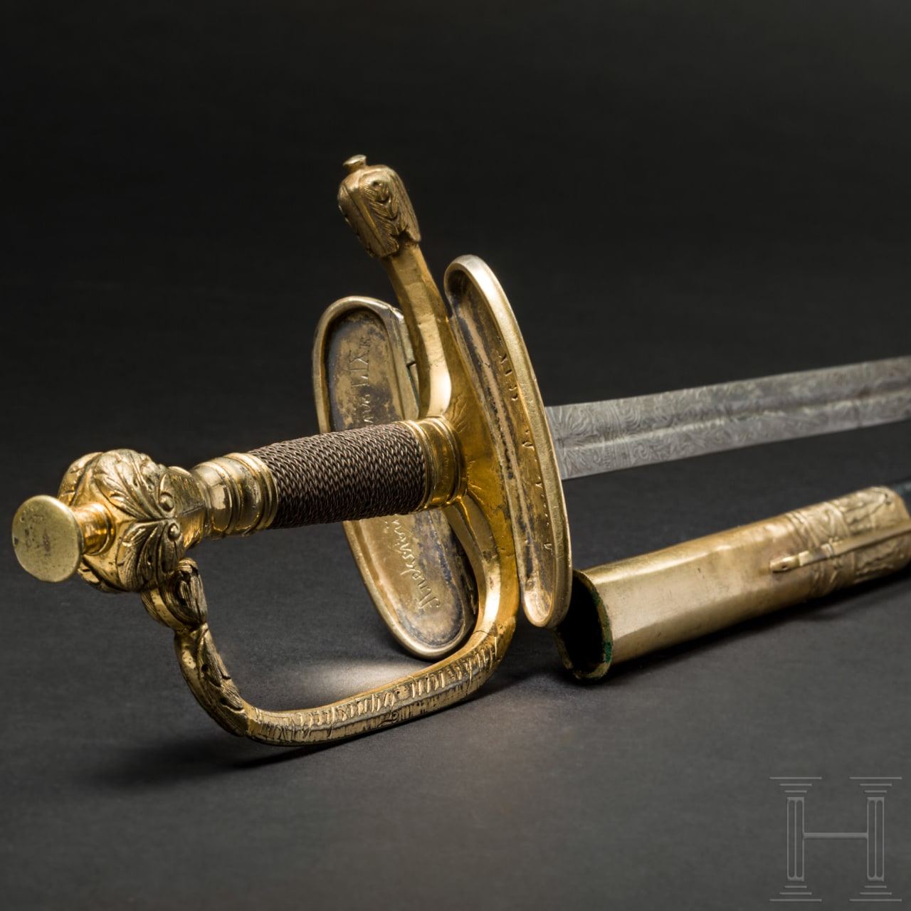 A sword M 1798 for officers of the Russian infantry, engraved with numerous names of the officers