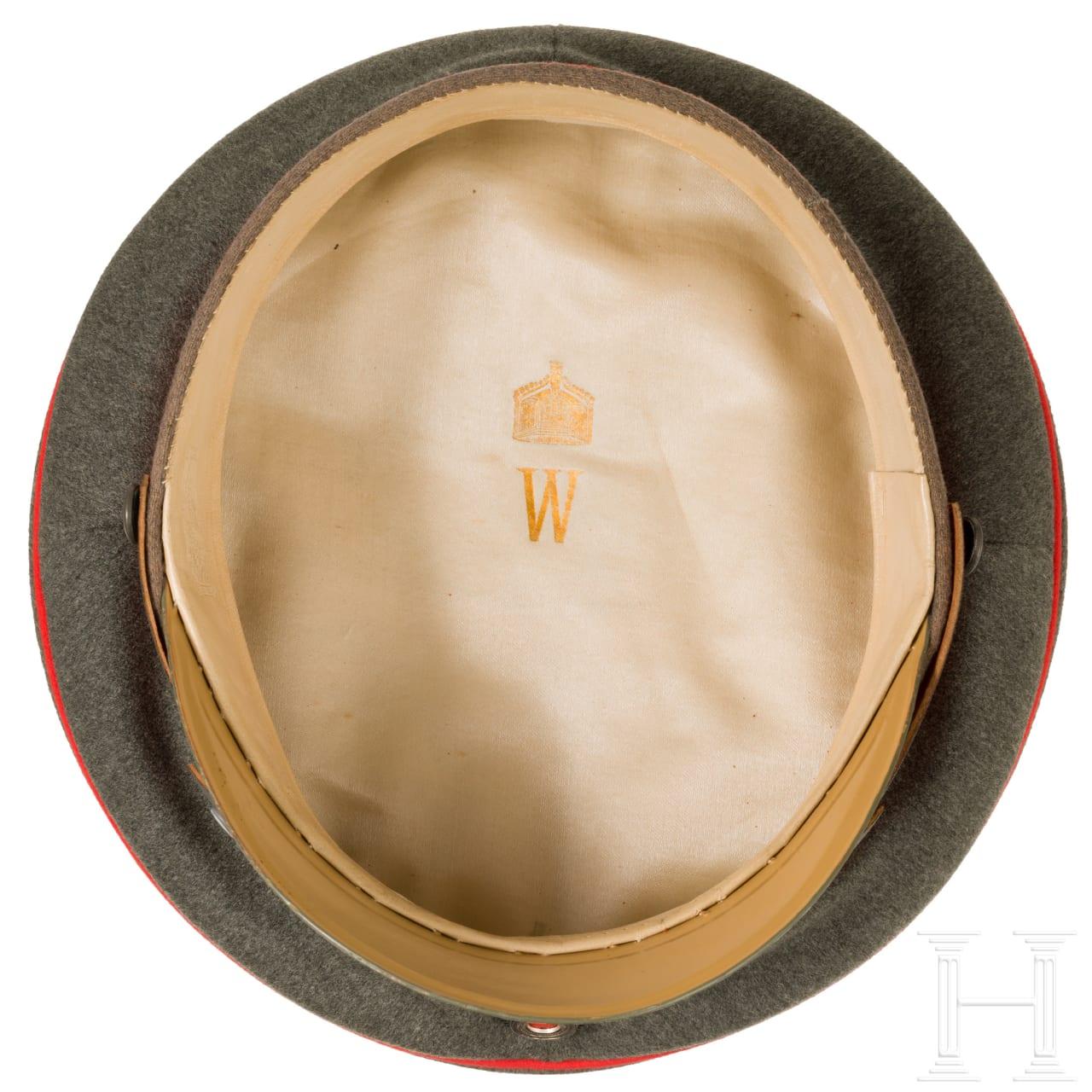 Kaiser Wilhelm II. - persönliche Schirmmütze zur feldgrauen Uniform, um 1915