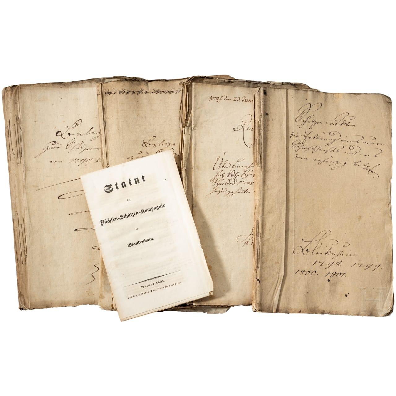 Dokumente der Büchsen-Schützen-Kompagnie Blankenhain von 1747 - 1801