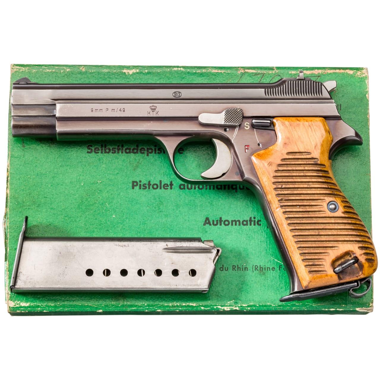 SIG P 210 HTK (P m/49), im Karton