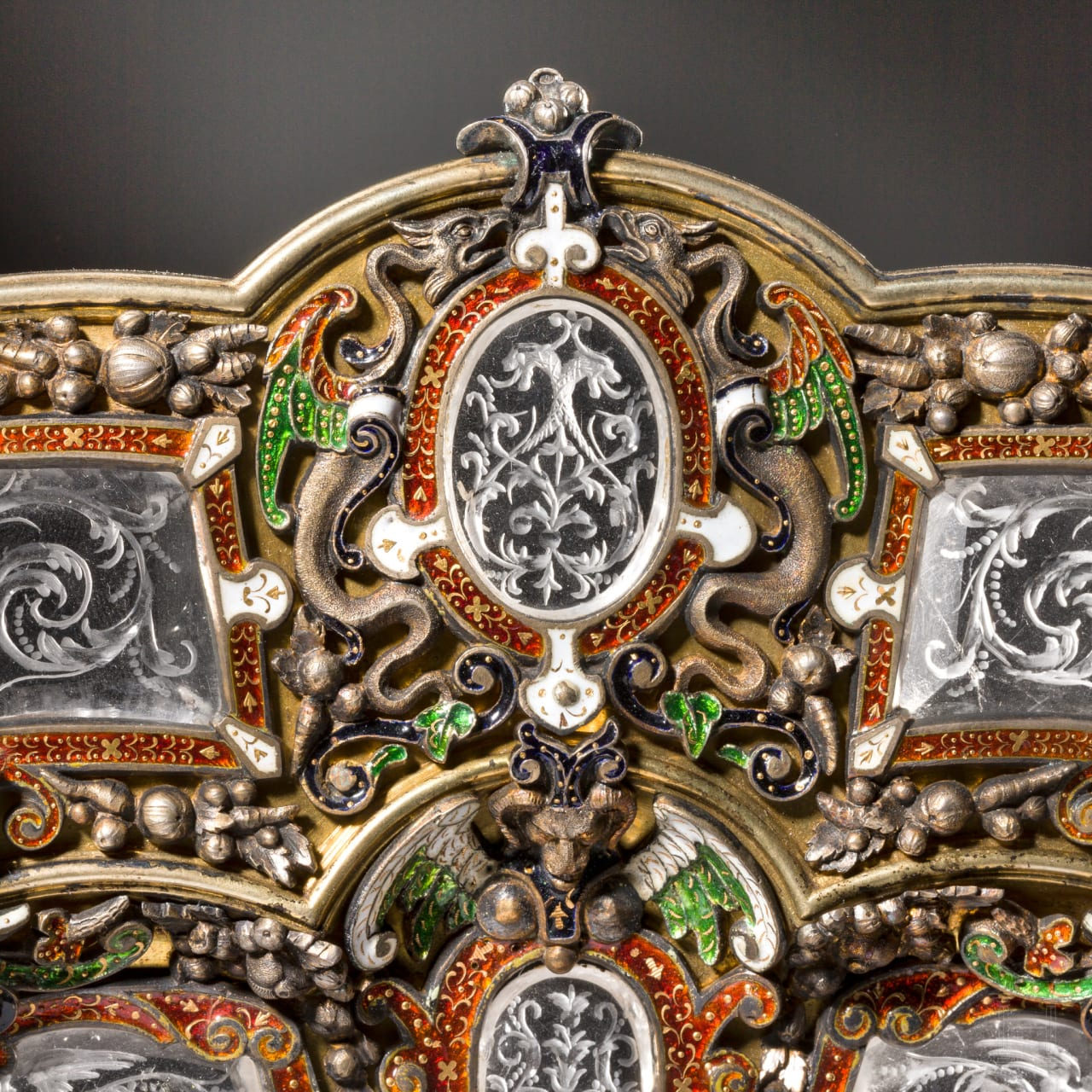 A magnificent ornamental plate with marks for Hermann Ratzersdorfer, Vienna, 19th century