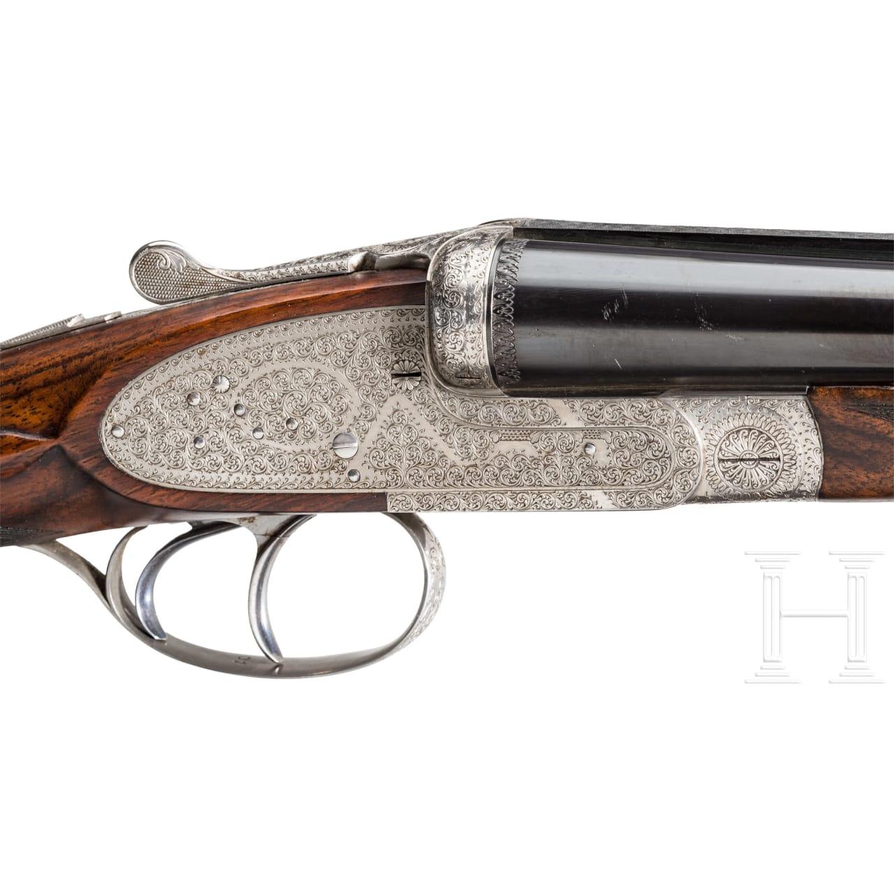 A side-by-side shotgun by Armes Jacquemart, Herstal