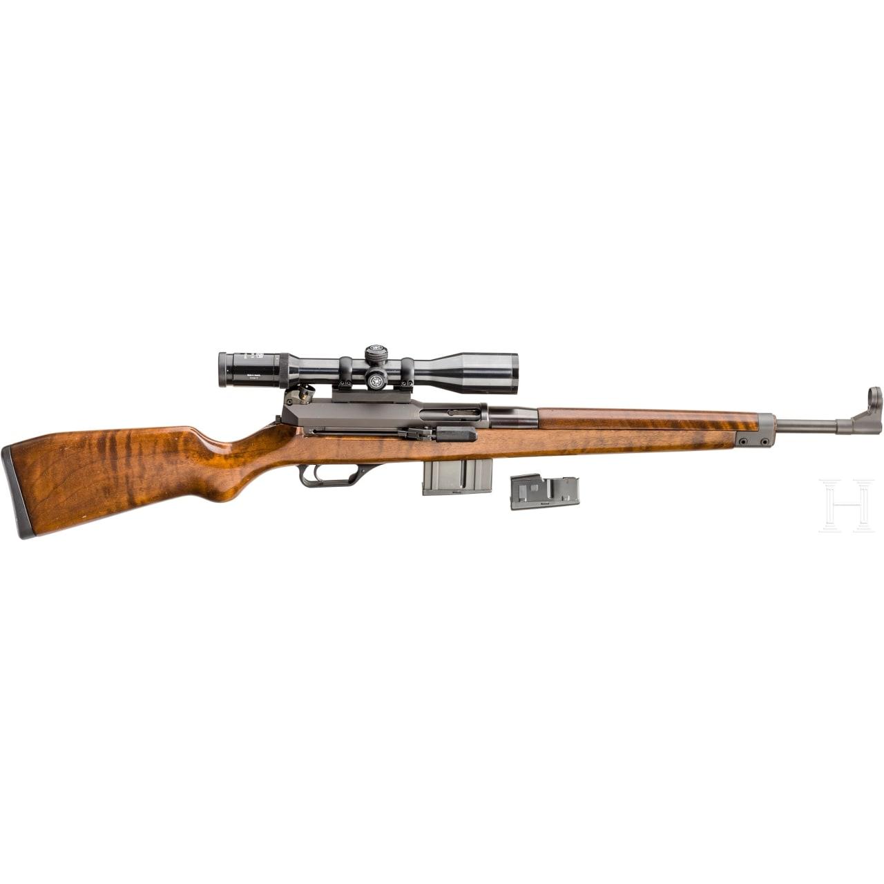 Heckler & Koch Mod. SL 7 semi-auti rifle, with a Kahles scope