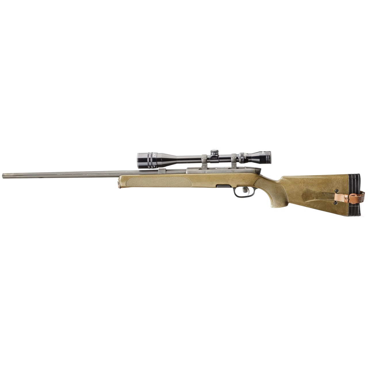 A Steyr SSG 69 sniper rifle, with Tasco scope