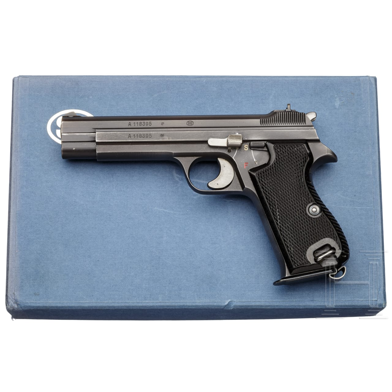 A SIG P 210 (Pistol 49), in box