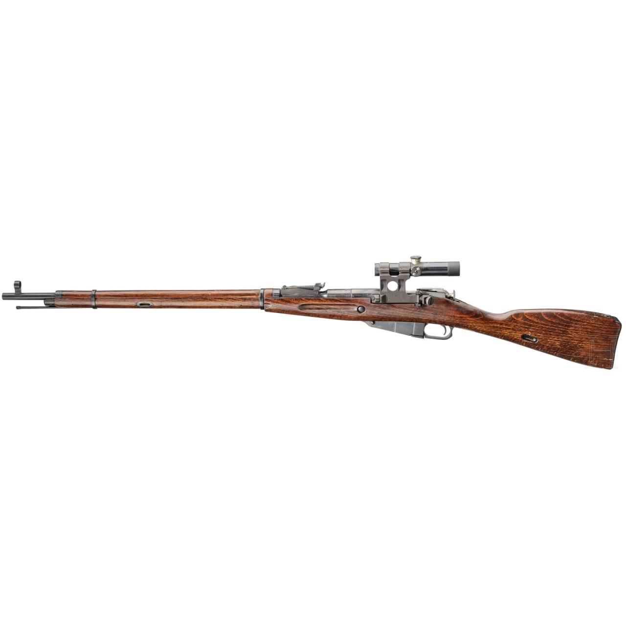 A Sniper Rifle Mosin-Nagant Mod. 1891/30, with original PU-scope