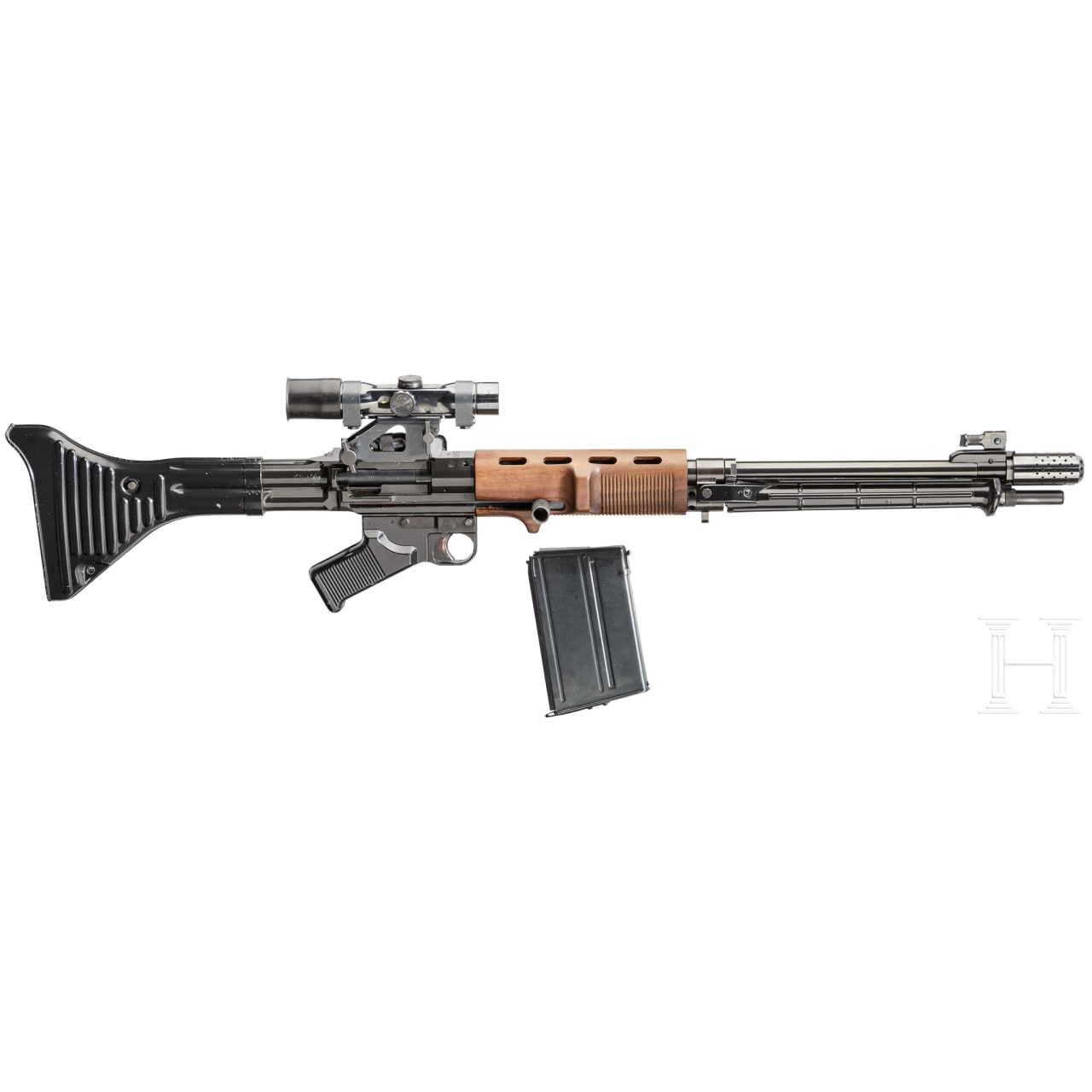 A paratrooper rifle FG 42/1 (Dittrich BD 42/I) with ZF 4 scope