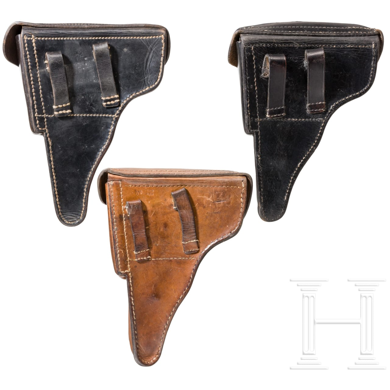 Three holsters for the P 38