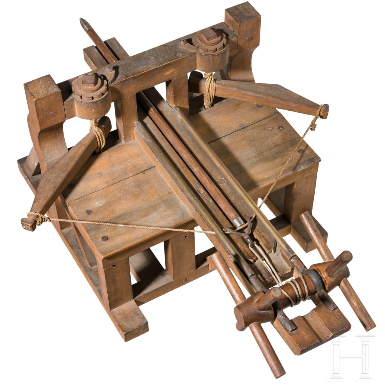Seltenes Modell eines römischen Torsionsgeschützes, spätes 19. Jhdt./Anfang 20. Jhdt.