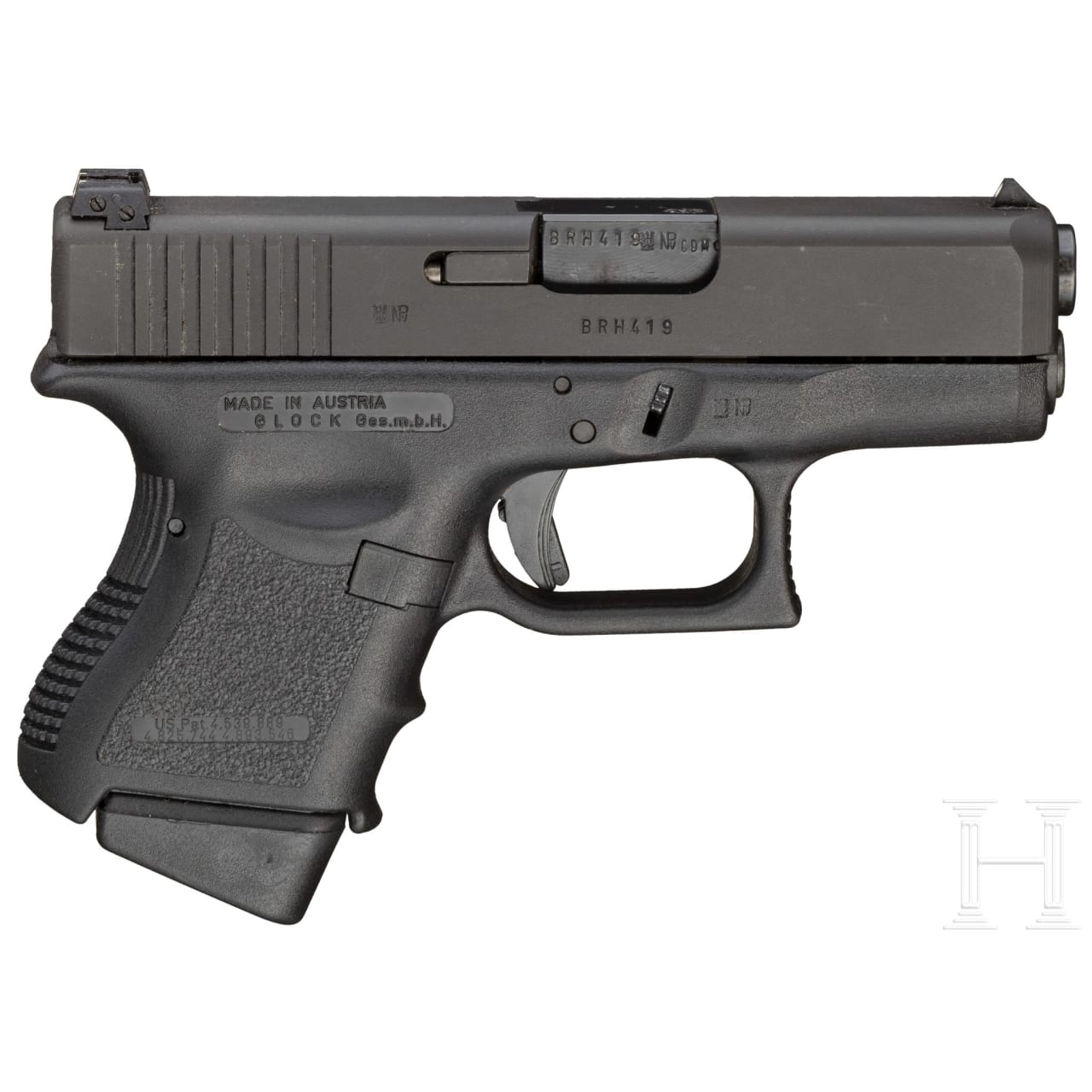 Glock Mod. 26, 4 mm M20 Umbau, in Box