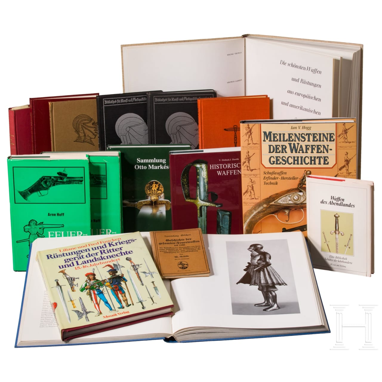16 volumes on historical weapons science