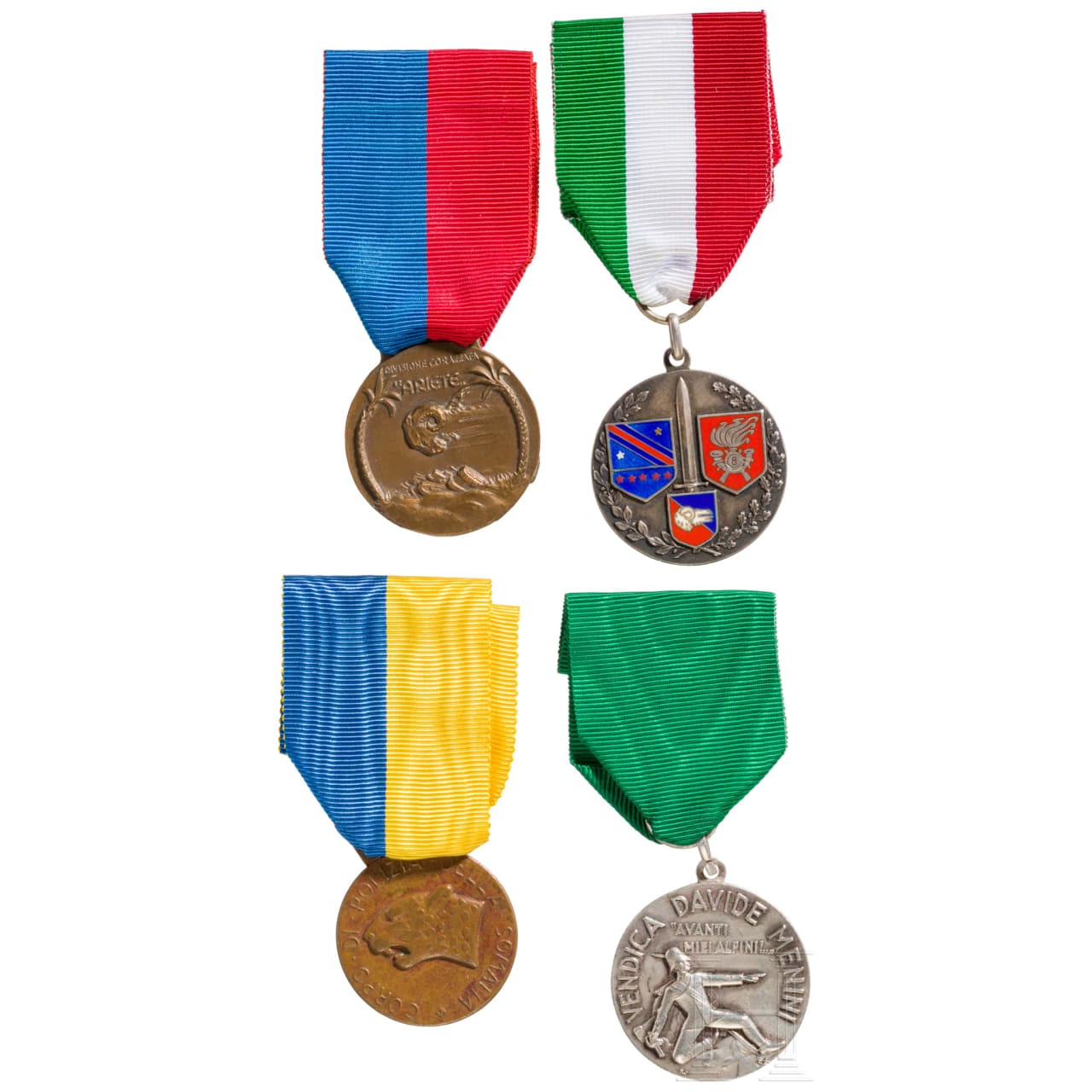 Vier Medaillen, Italien, 20. Jhdt.