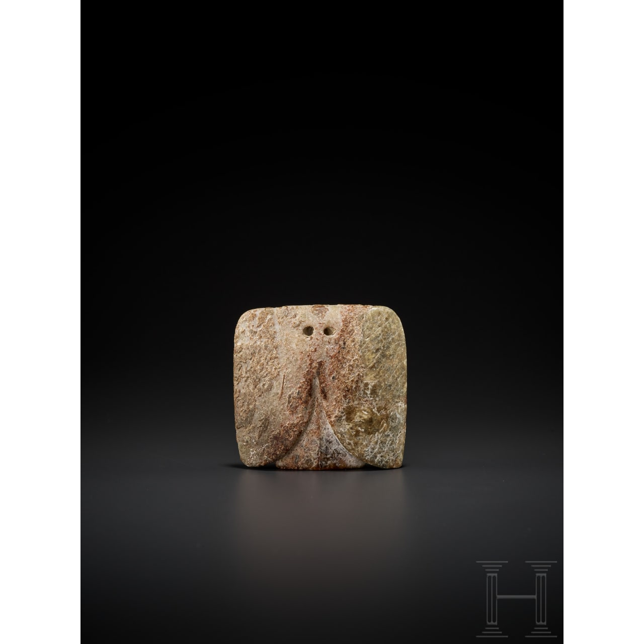 A Chinese Late Neolithic jade carving of a bird, Hongshan culture, 4700 - 2900 B.C.