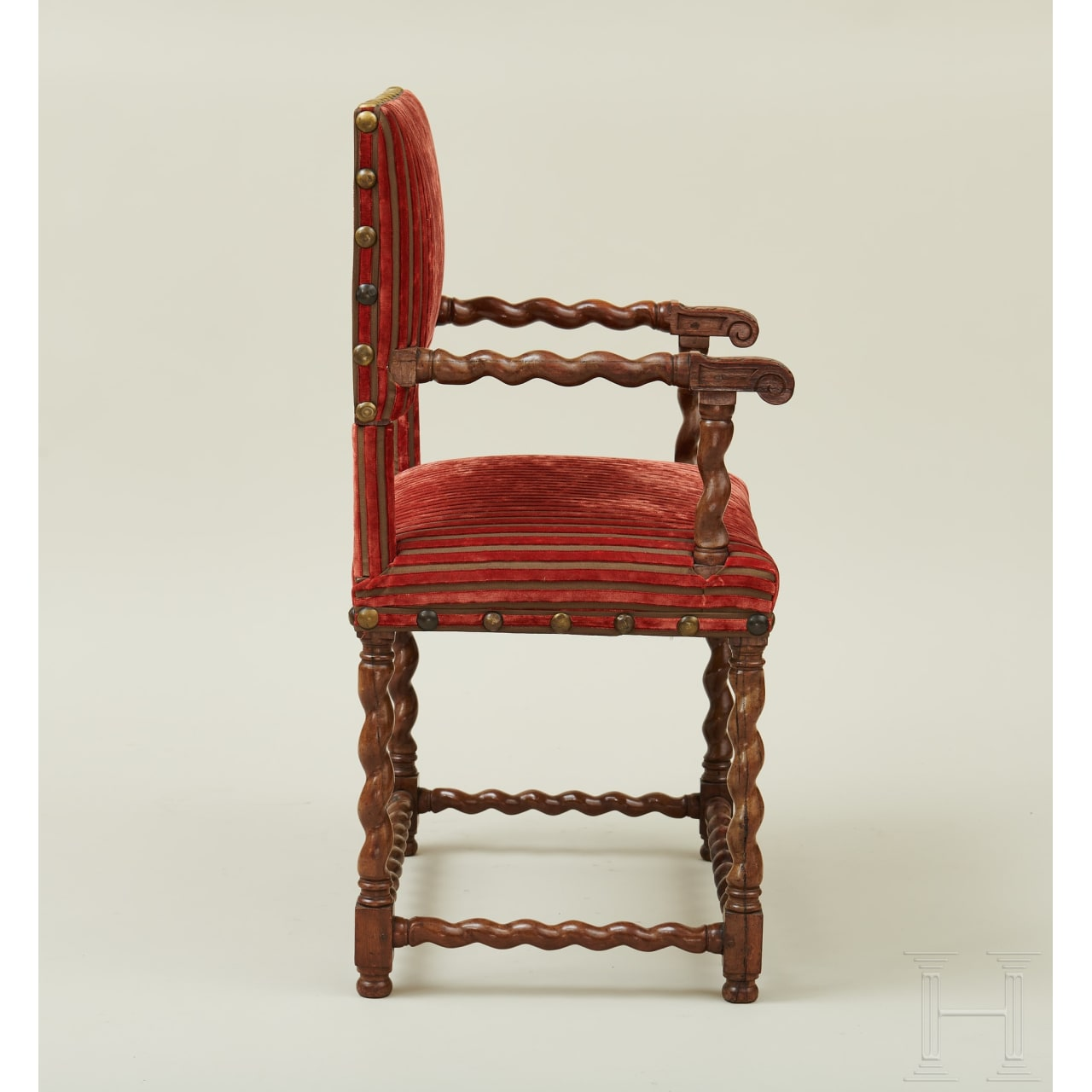 A set of four Renaissance armchairs, Île-de-France, mid 17th century