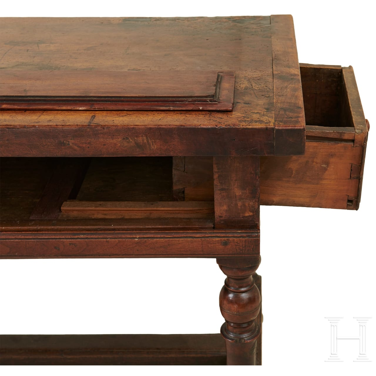 A rare, large Italian refectory table in walnut from the estate of Max Jacob Friedländer, 17th century