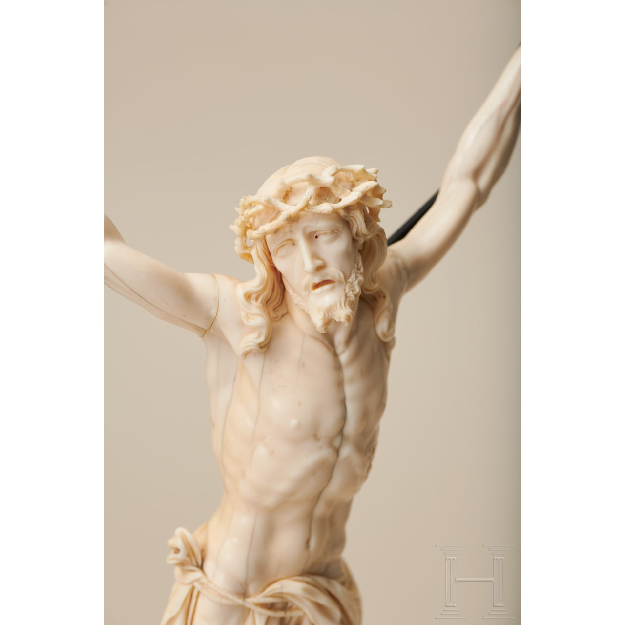 An impressive Flemish figure of Christ in ivory, 17th century