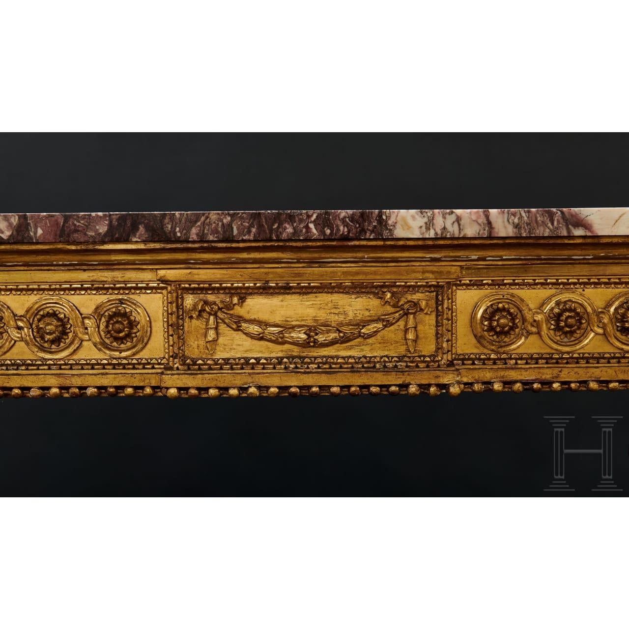 An Italian Louis XVI console, circa 1790