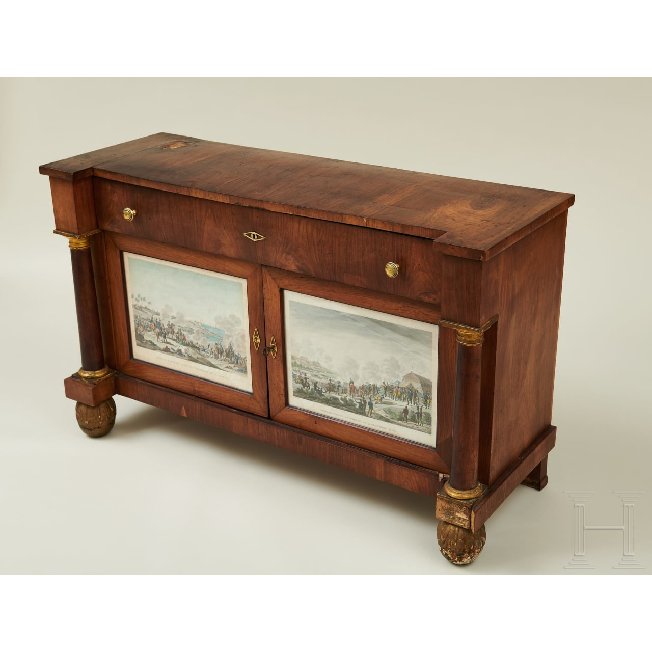 Two Tuscan Empire-style sideboards, early 19th century