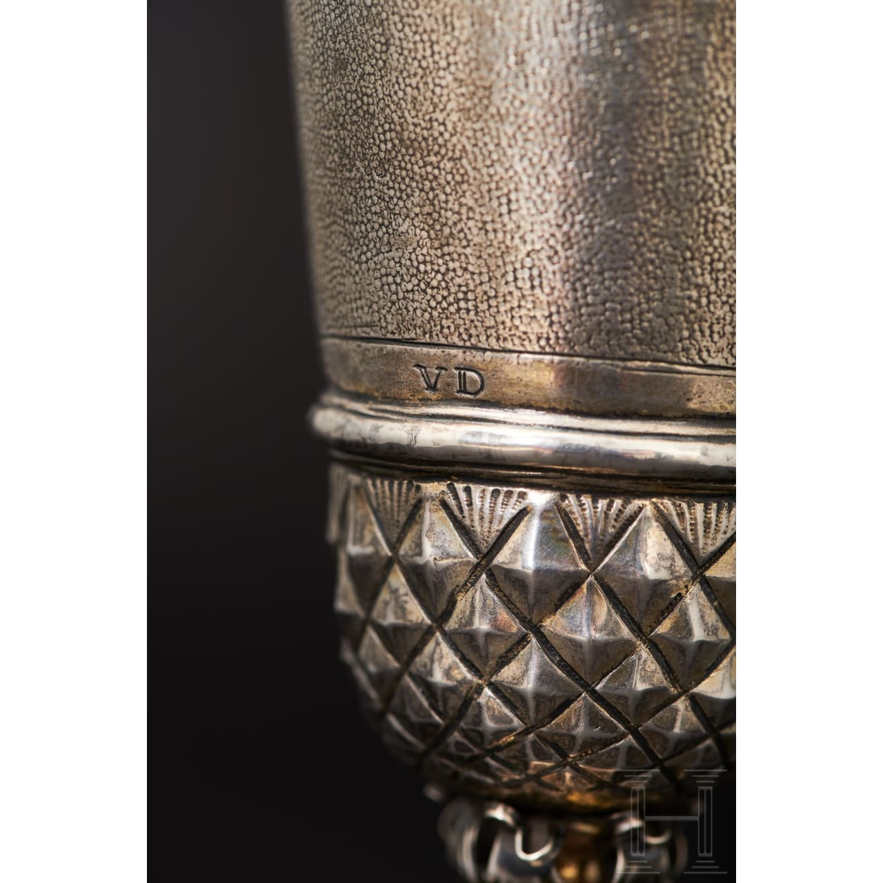 A small trophy with lozenge-shaped décor, Augsburg, 1st half of the 17th century