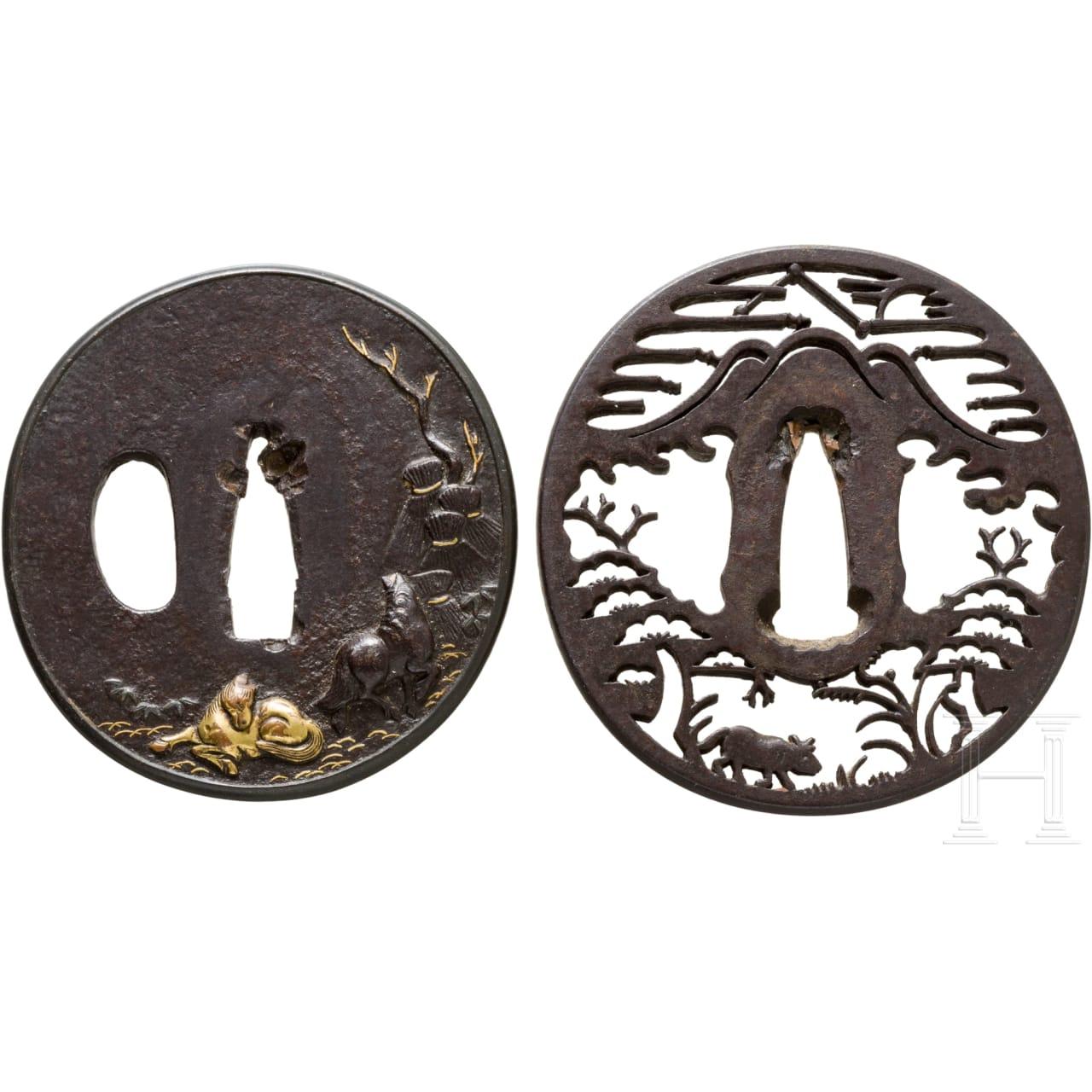 Two Japanese tsuba, 19th century
