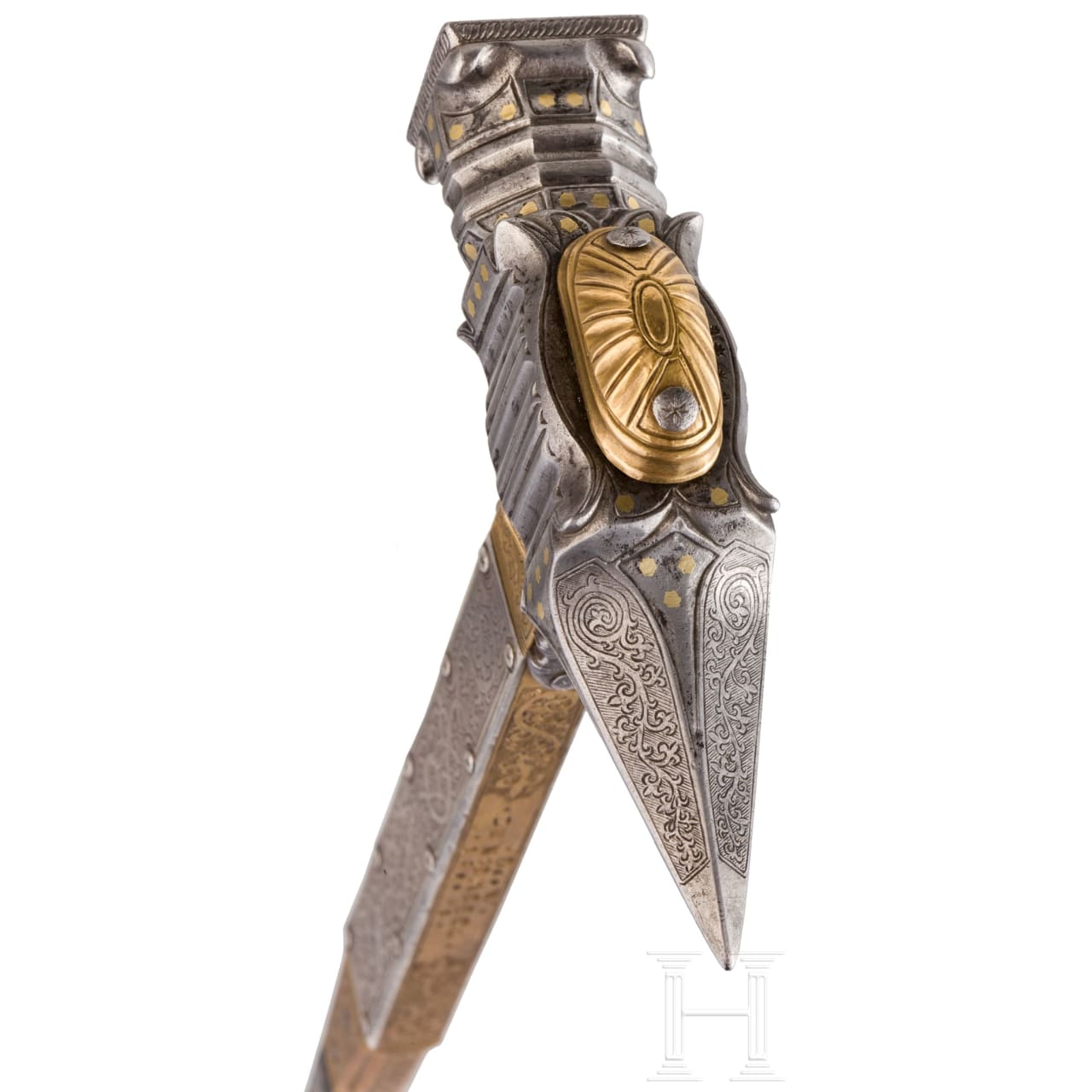 A Nuremberg ceremonial war hammer, dated 1581