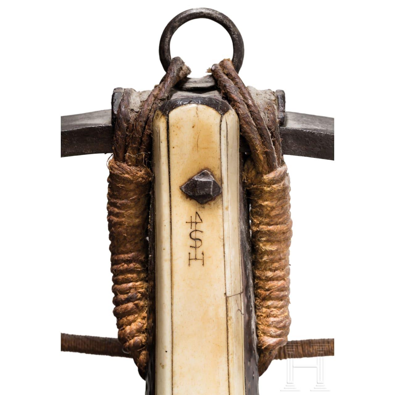 Armbrust mit Bolzen, süddeutsch, um 1600