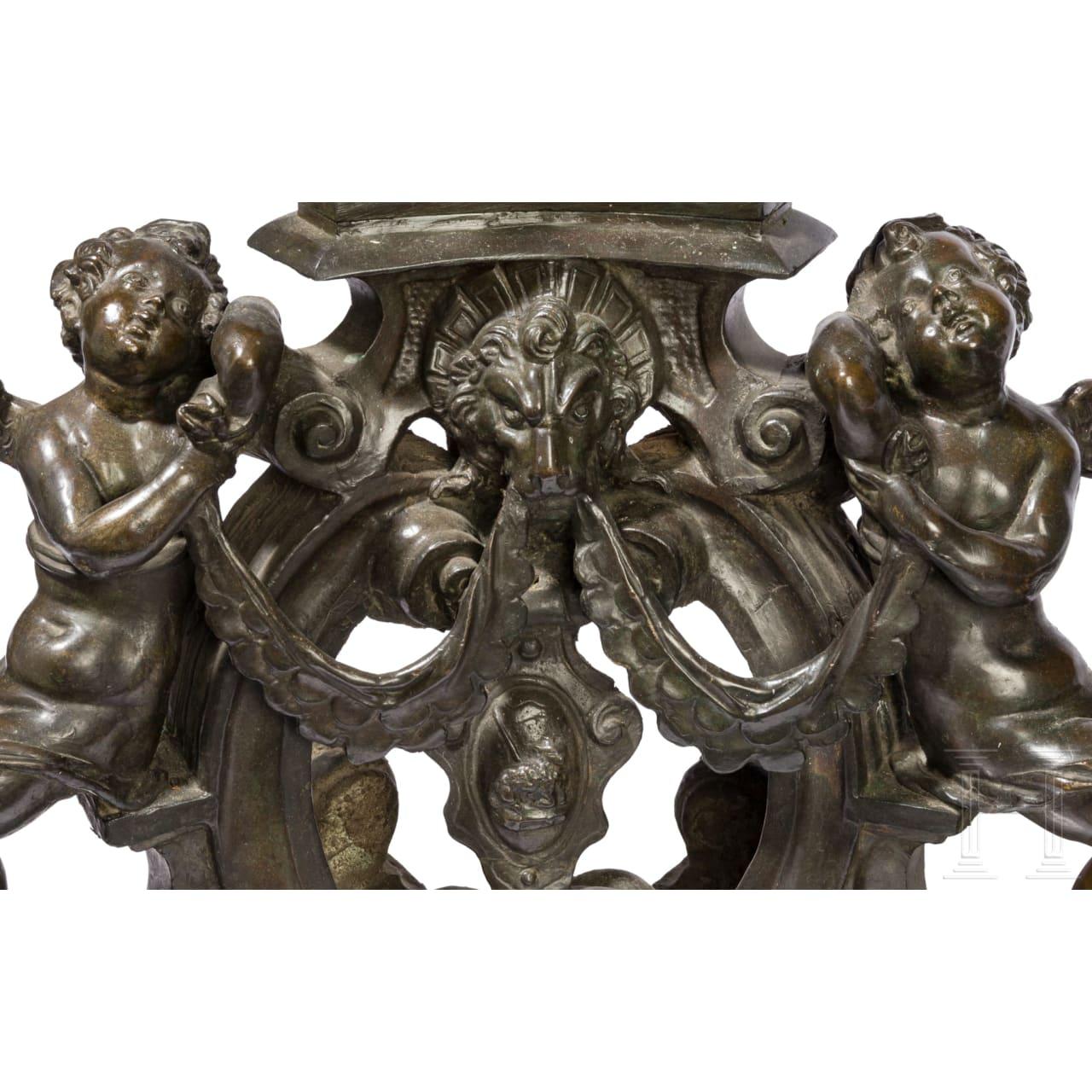Ein Paar monumentale Kaminböcke im Stil der Renaissance, Venedig, 19. Jhdt.