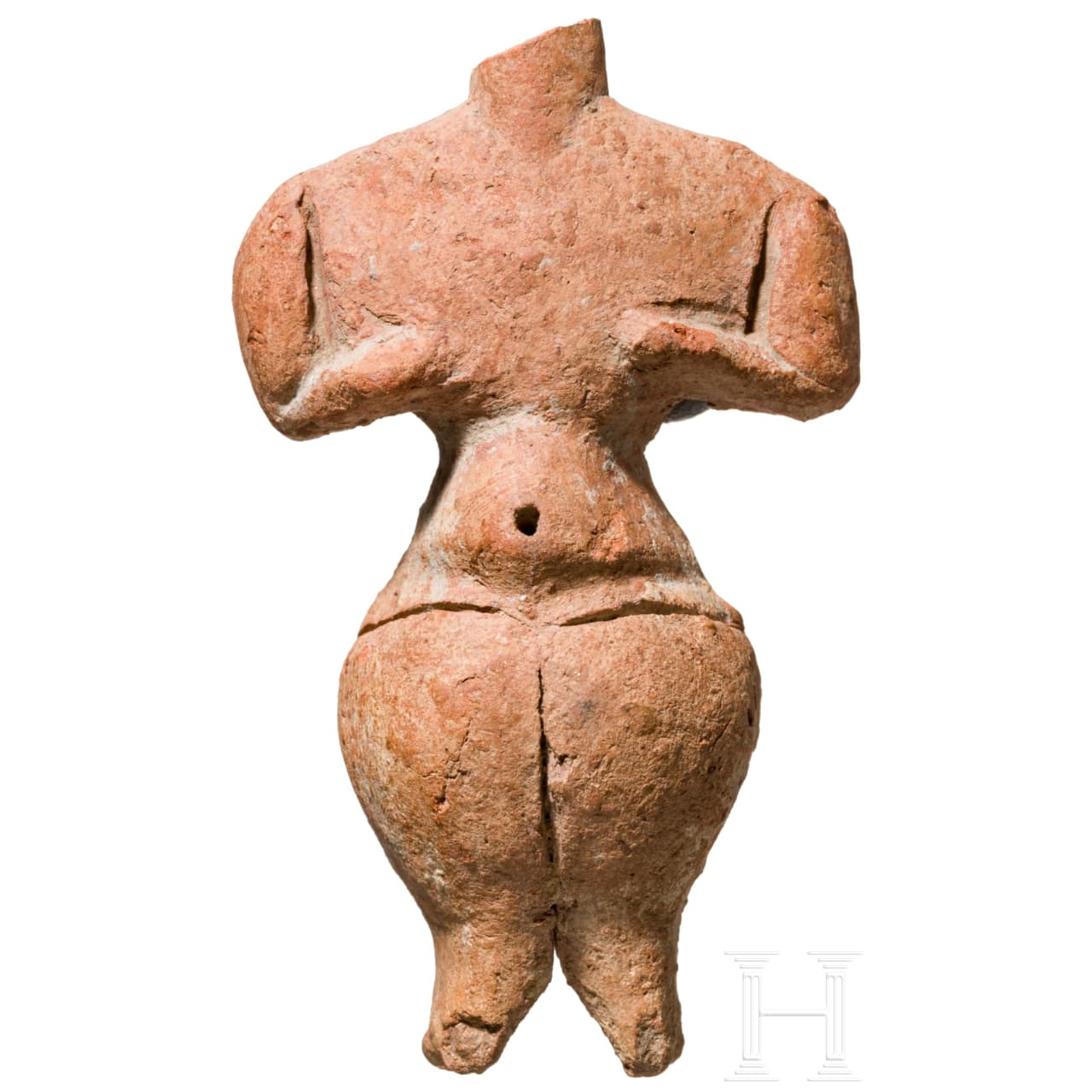 Eindrucksvolles Venusidol, Körös-Kultur, Ungarn, Neolithikum, 4. Jtsd. v. Chr.