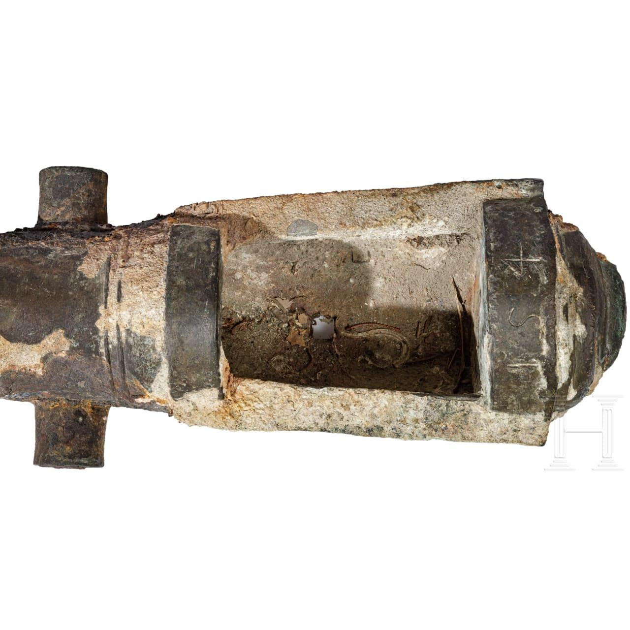 Bronzenes Schiffsgeschütz mit Hinterladersystem, Italien, 16. Jhdt.