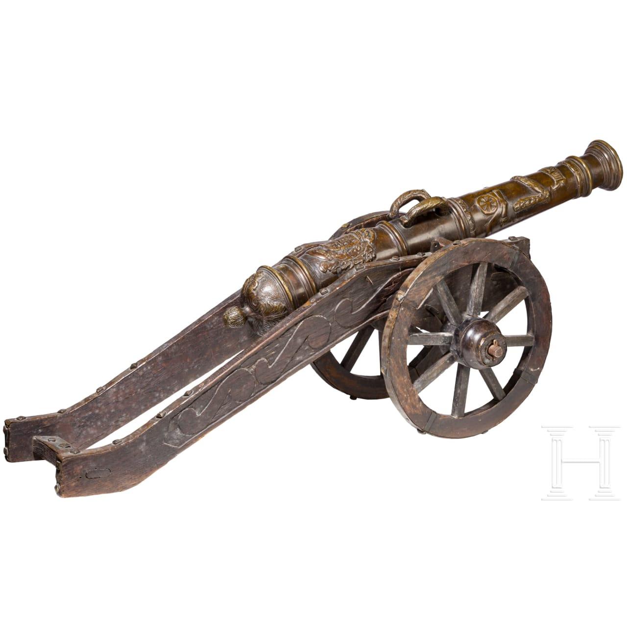 Modellgeschütz, Sammleranfertigung im Stil des 16. Jhdts.