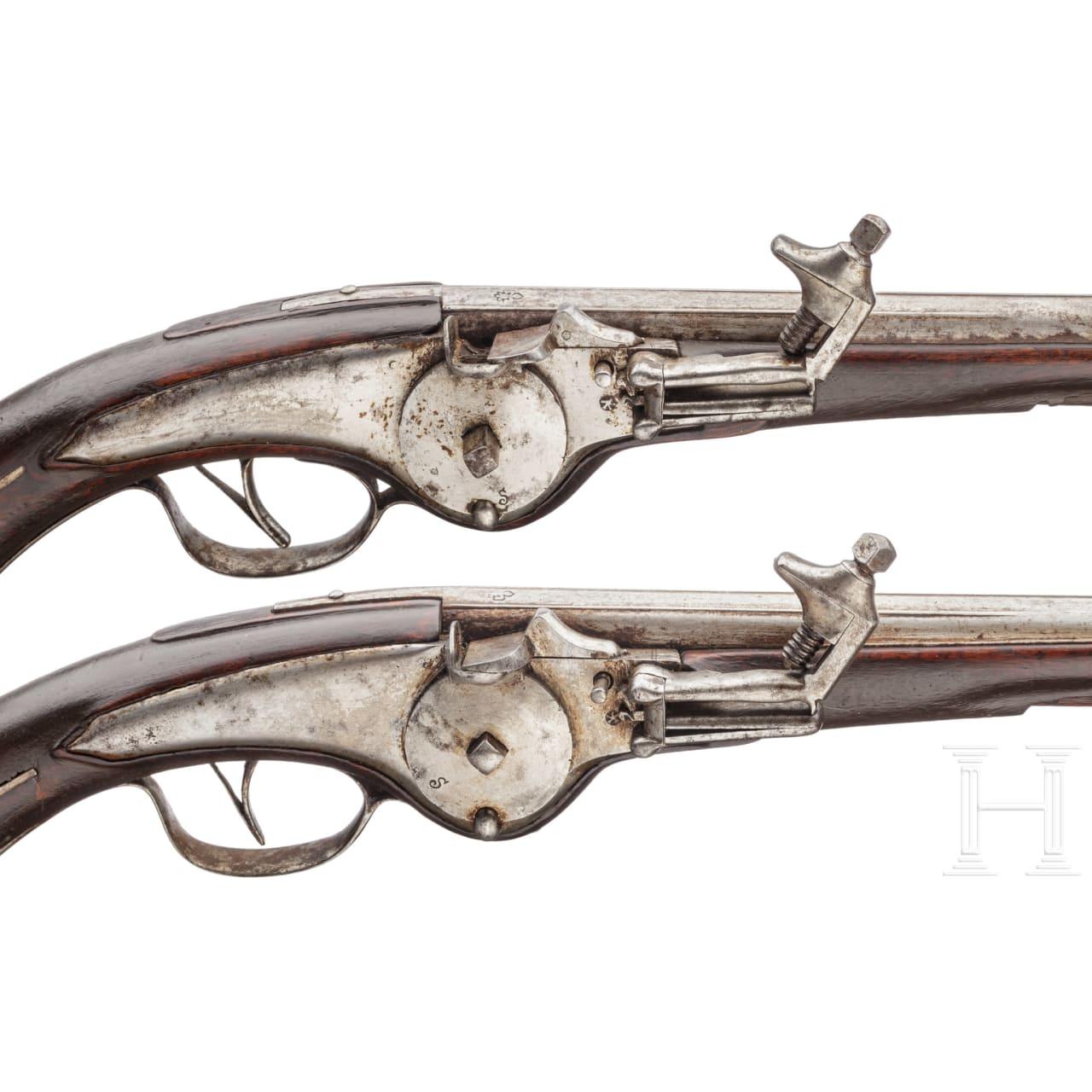Ein Paar militärische Radschlosspistolen, norddeutsch oder flämisch, um 1650