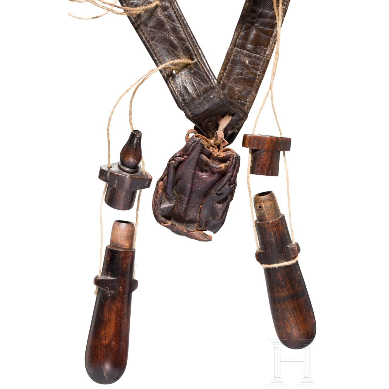 Musketier-Bandelier, deutsch, 1. Hälfte 17. Jhdt.