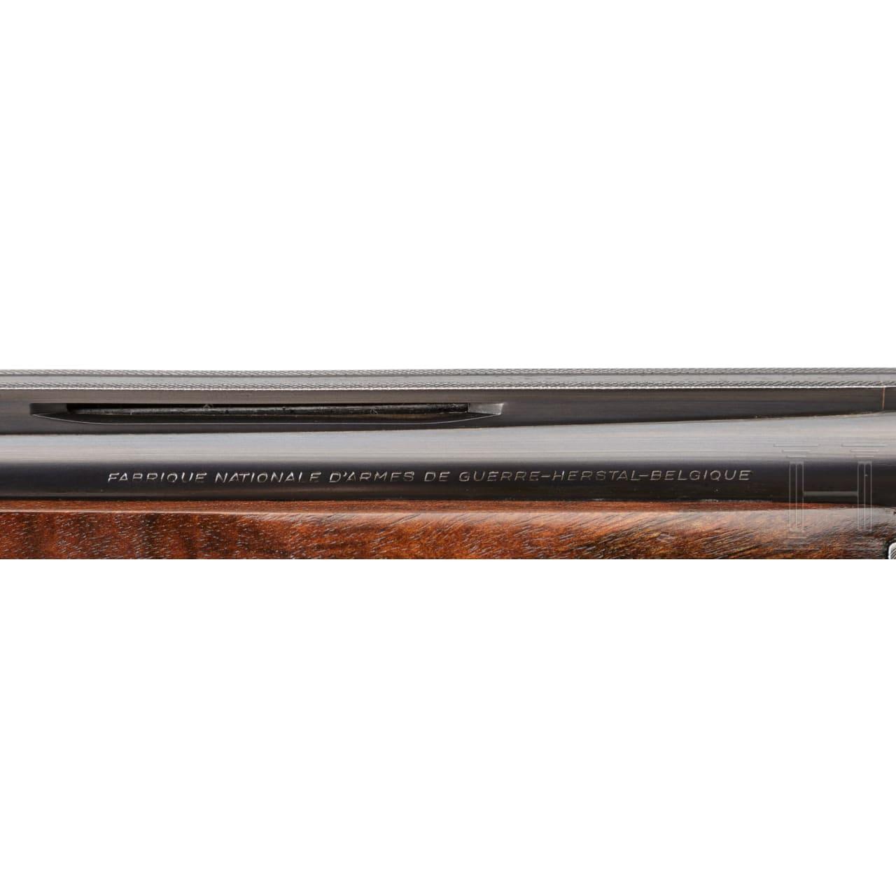 Bockdoppelflinte FN Browning B25, Mod. Spezial-Jagd/D 4, Luxusausführung im Lederkoffer
