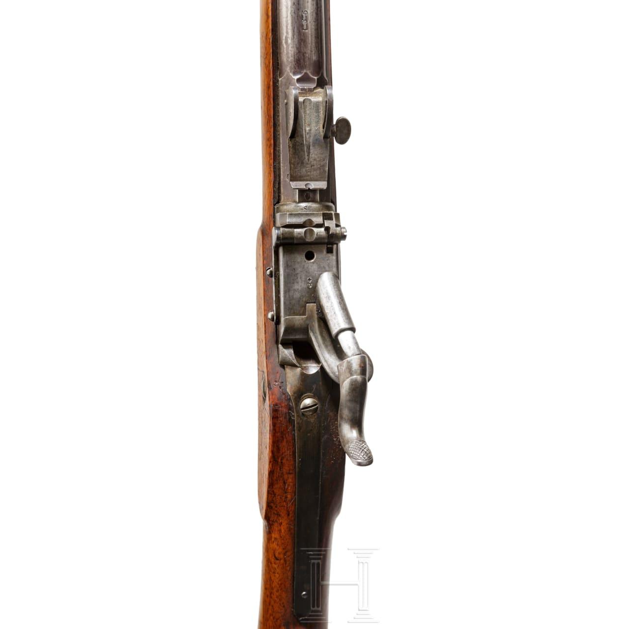 Jägerstutzen Milbank-Amsler, M 1851/67, mit Bajonett
