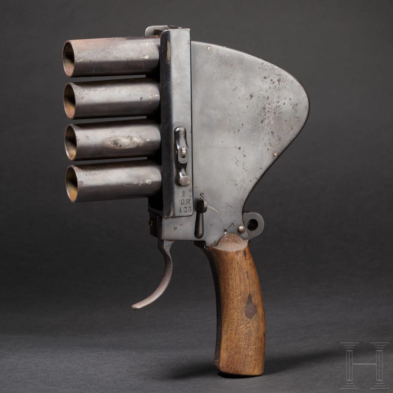 Vierläufige Signalpistole Gebr. Rempt