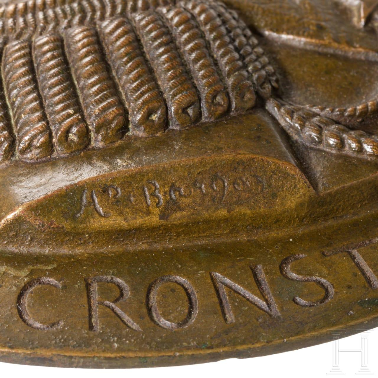 Zar Alexander III. - Große Erinnerungsplakette aus Bronze, 1894