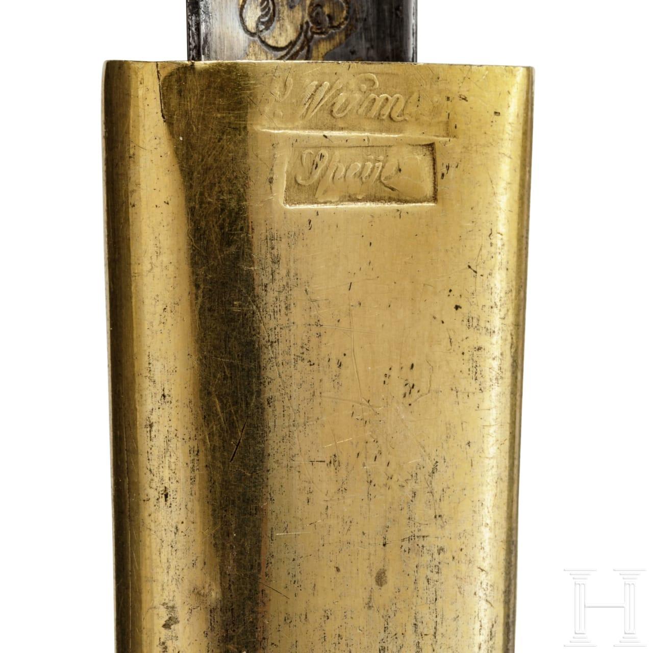 Silbermontierter und vergoldeter Degen für höhere Beamte, Bayern, um 1806
