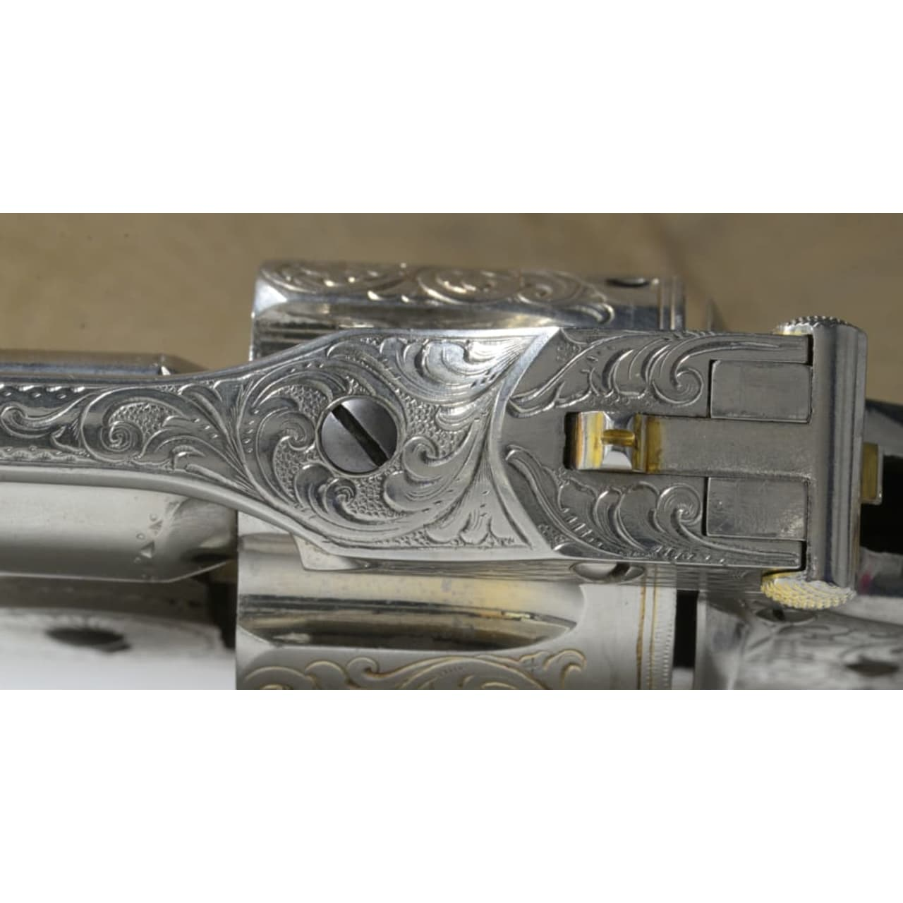 A cased deluxe Model 3 Russian First Model with engraved nickel finish