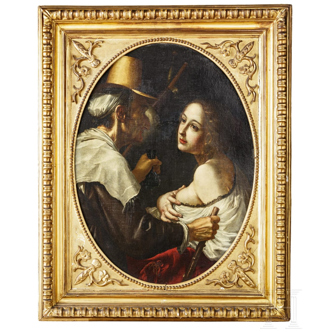 An Italian baroque Old Master painting, known as the Caravaggisti, 17th century