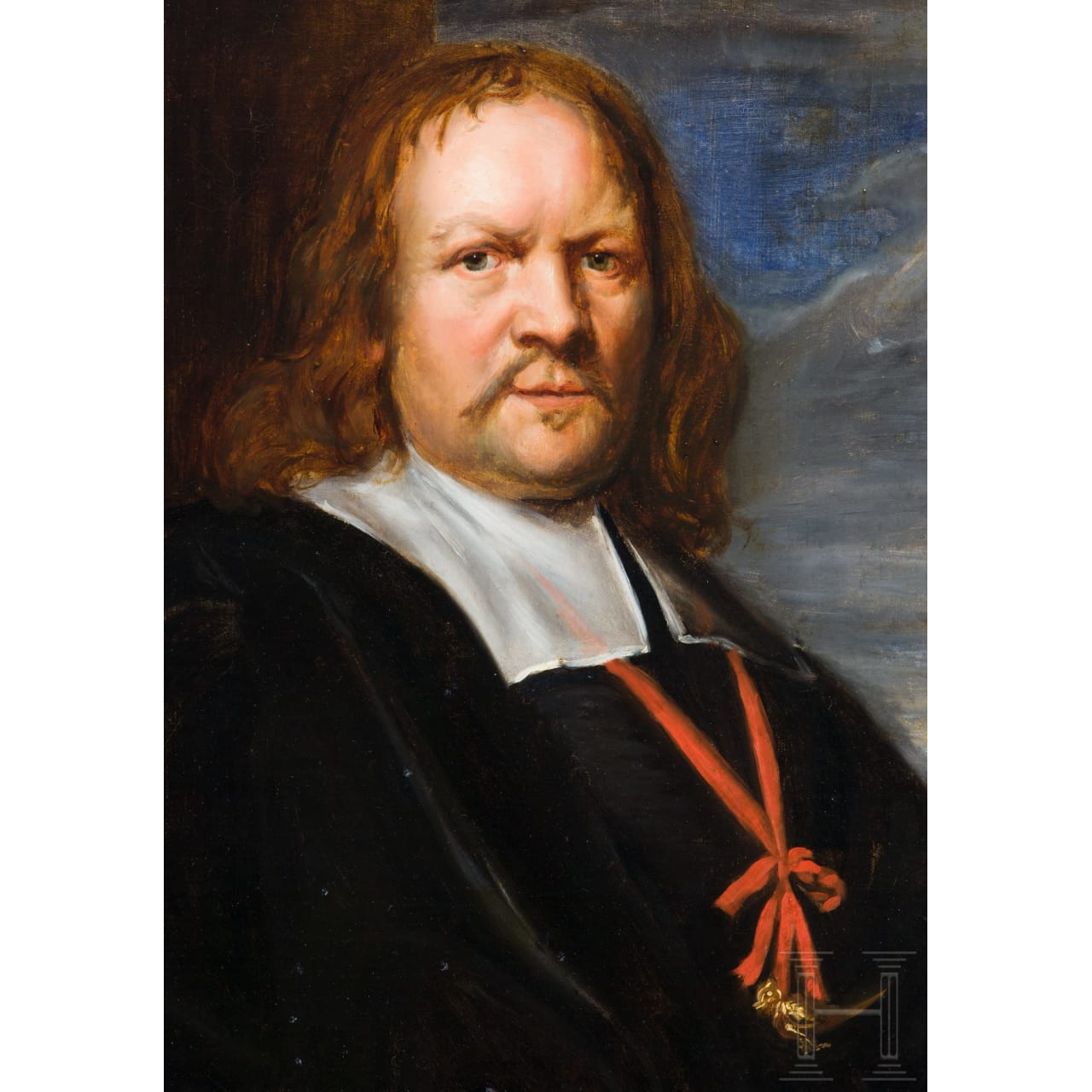 A Dutch portrait of a member of a crossbow shooting society, dated 1665