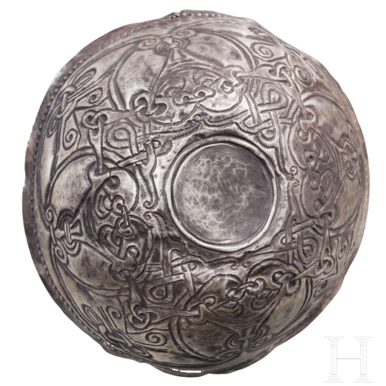 A Viking silver bowl, 9th - 10th century