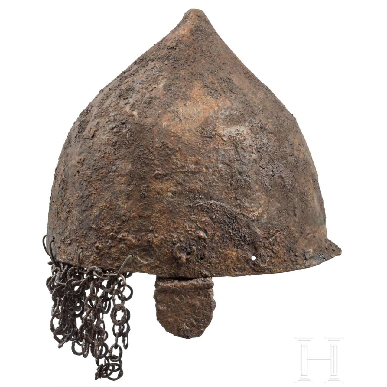 A Khasarianian iron helmet, 12th - 13th century