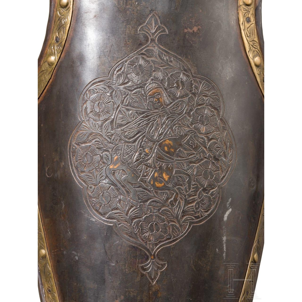 Reich dekorierte Rossstirn, Persien, um 1900