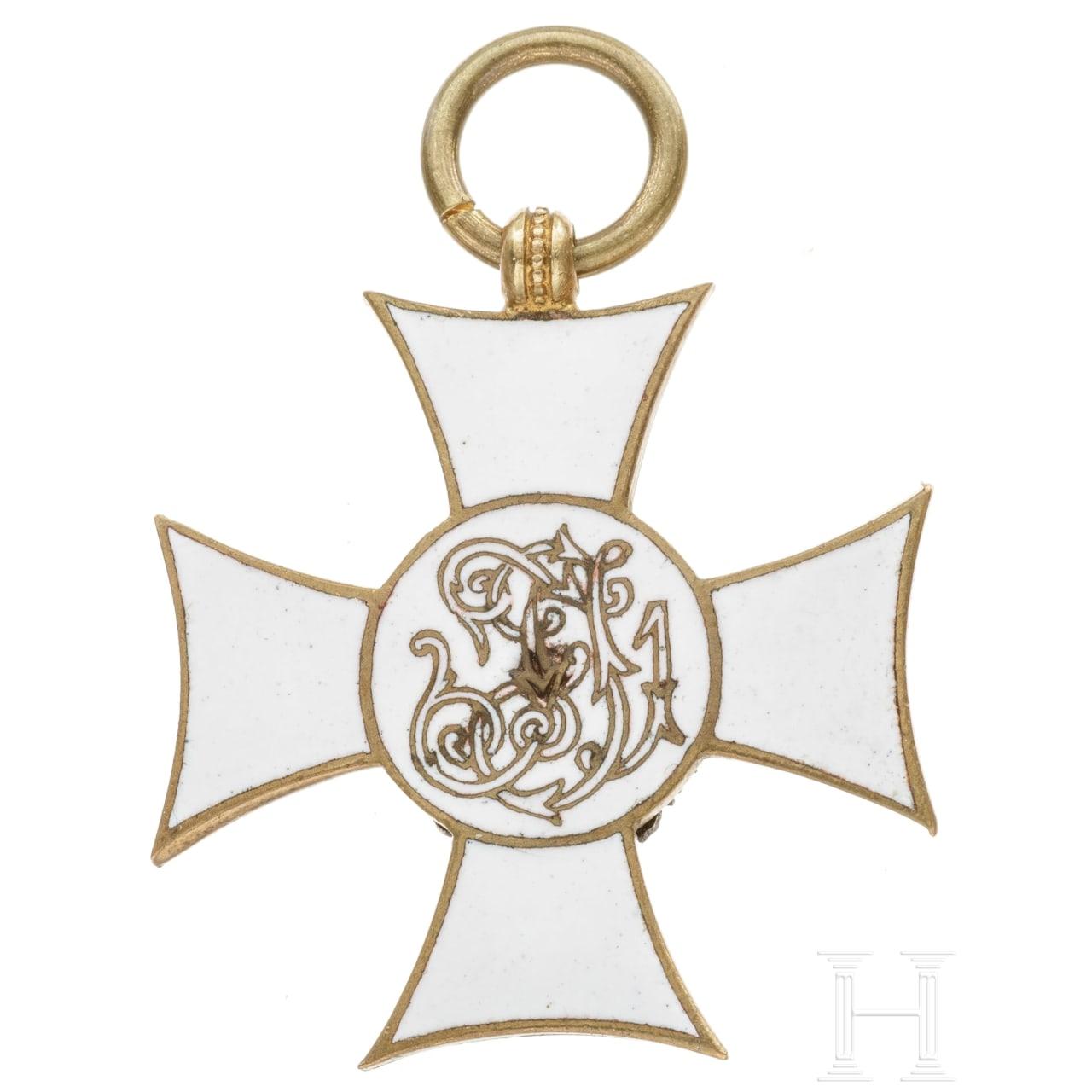 Militärdienstzeichen III. Klasse für Offiziere mit emaillierter Rückseite