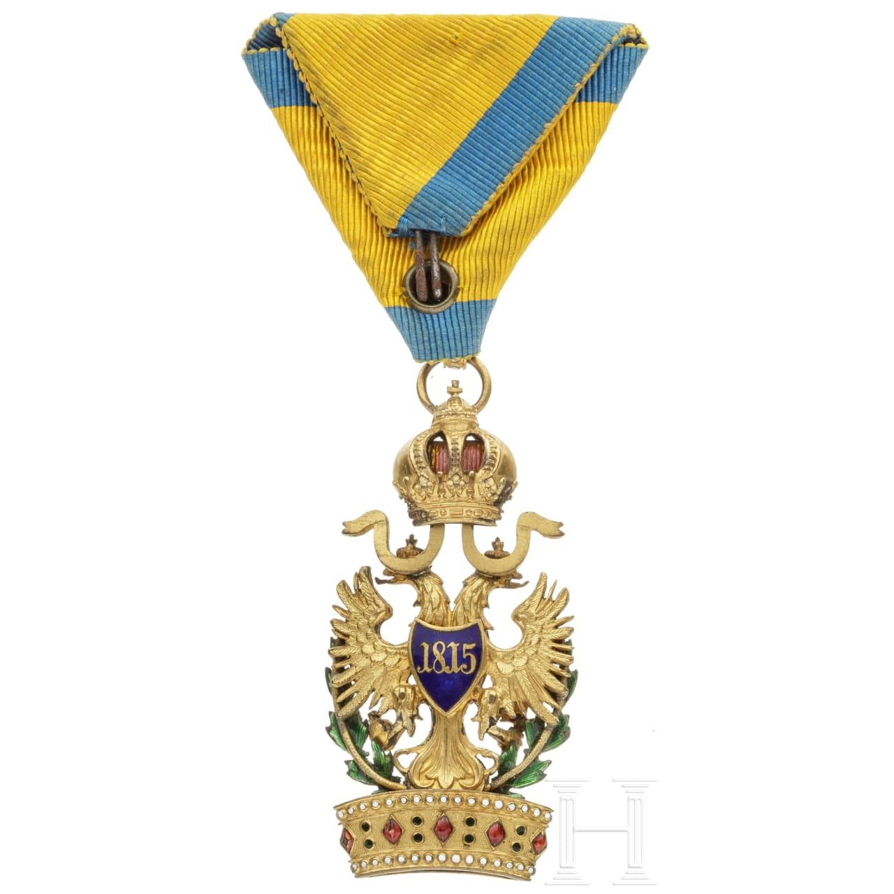 Kaiserlich österreichischer Orden der Eisernen Krone, 3. Klasse (Ritterkreuz), mit Kriegsdekoration (KD)