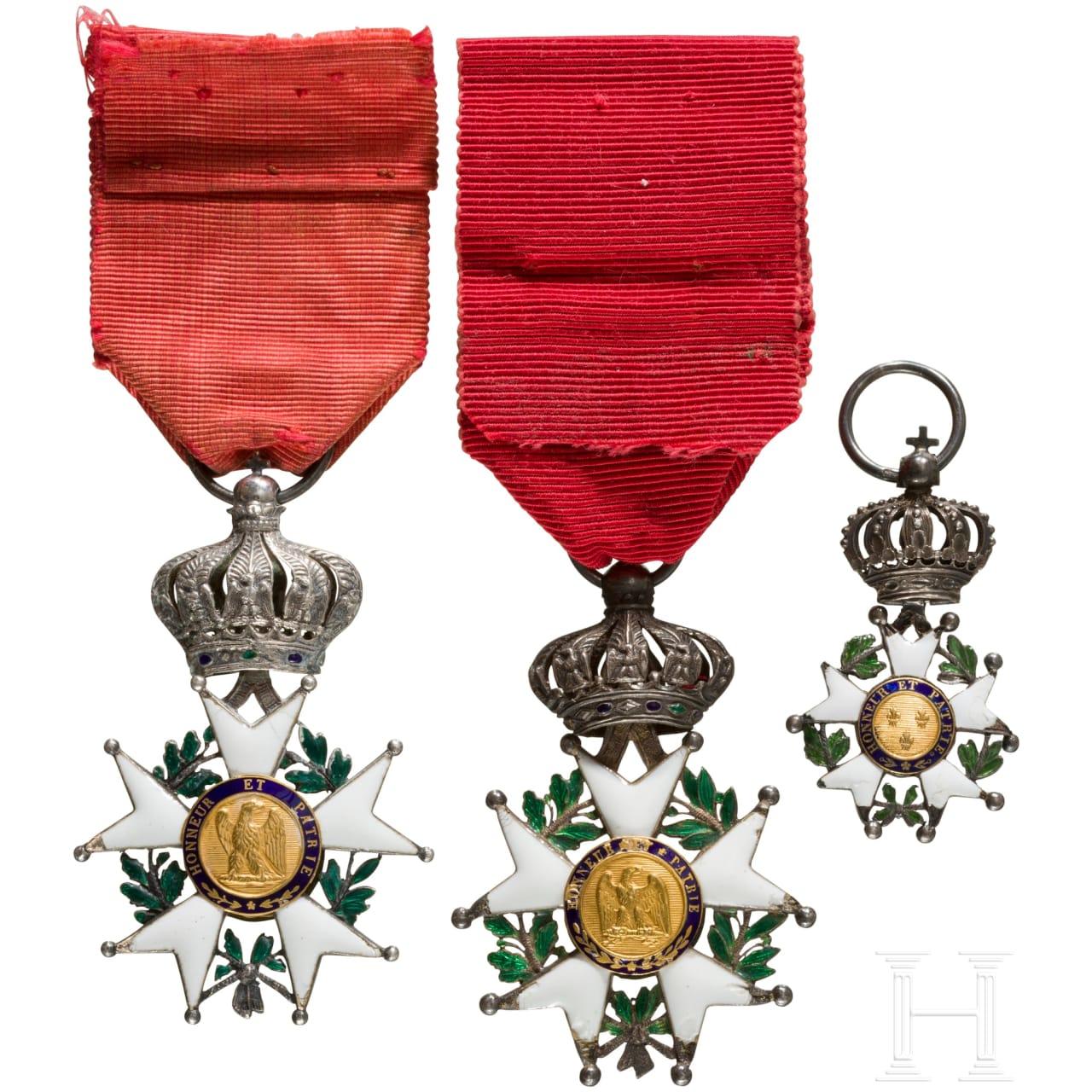 Drei Orden der Ehrenlegion, 19. Jhdt.