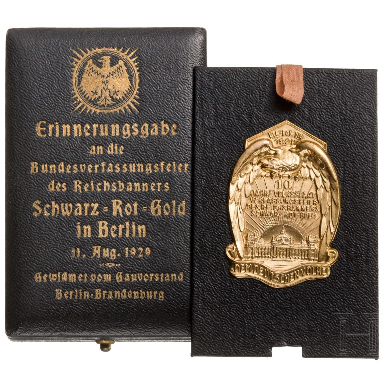 Erinnerungsgabe an die Bundesverfassungsfeier am 11.8.1929