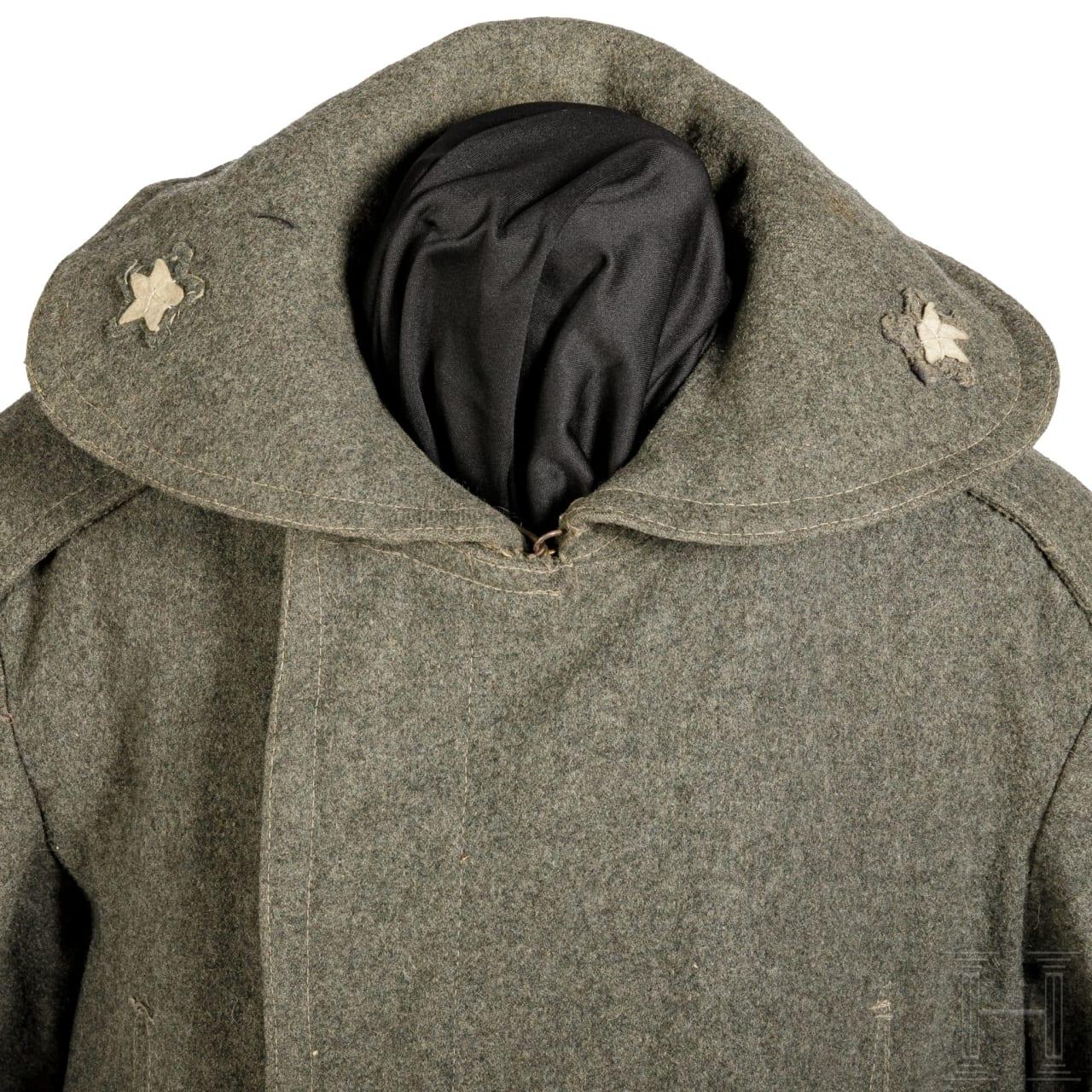 Mantel für italienische Soldaten im 1. Weltkrieg