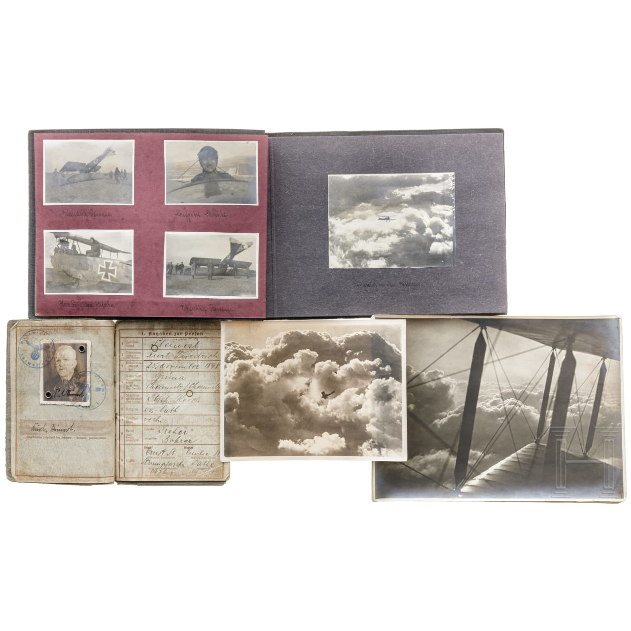 Fotoalbum einer dt. Fliegerabteilung im 1. Weltkrieg