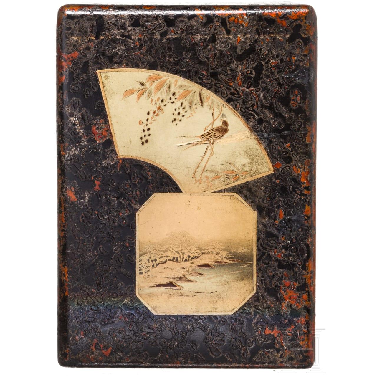 Schubladenkästchen und Figur eines Oni, Japan, Meiji-Periode